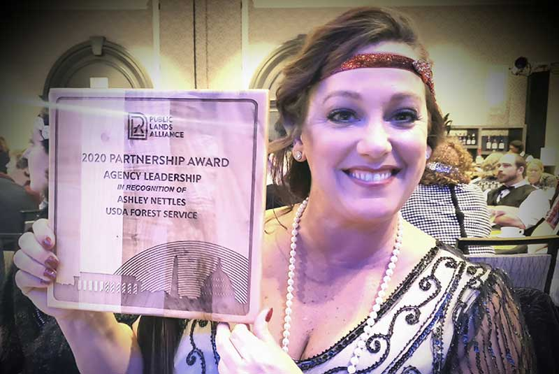 Ashley Nettles Receives Public Lands Alliance 2020 Partnership Awards